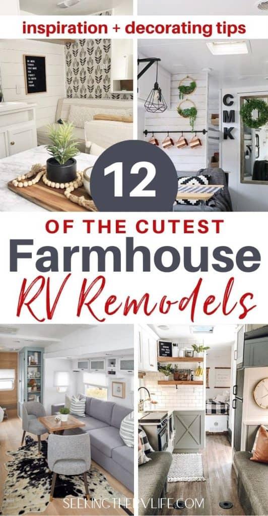 Farmhouse Decor RV Remodels