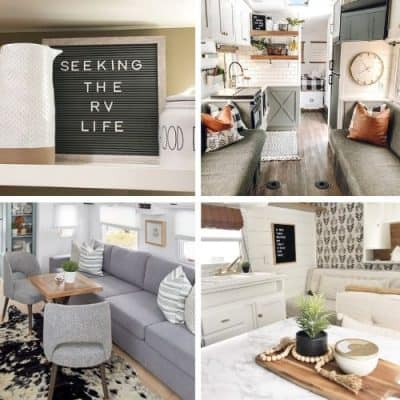 12 Cutest Farmhouse Decor RV Remodels