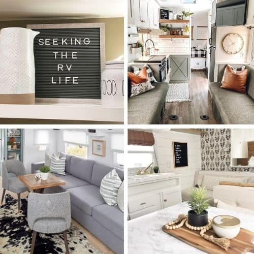 12 Cutest Farmhouse Decor Rv Remodels Seeking The Rv Life