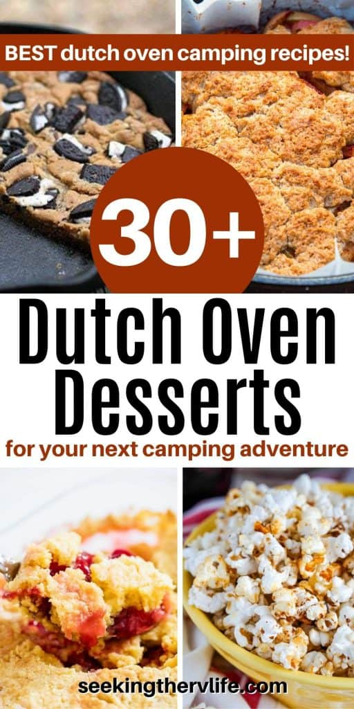 Pinterest pin featuring 4 of our favorite blogger recipes - oreo cookie, dump cake, peach cobbler, and kettle corn