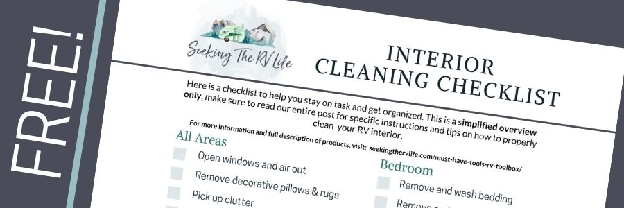 Image showing our free RV Cleaning Checklists