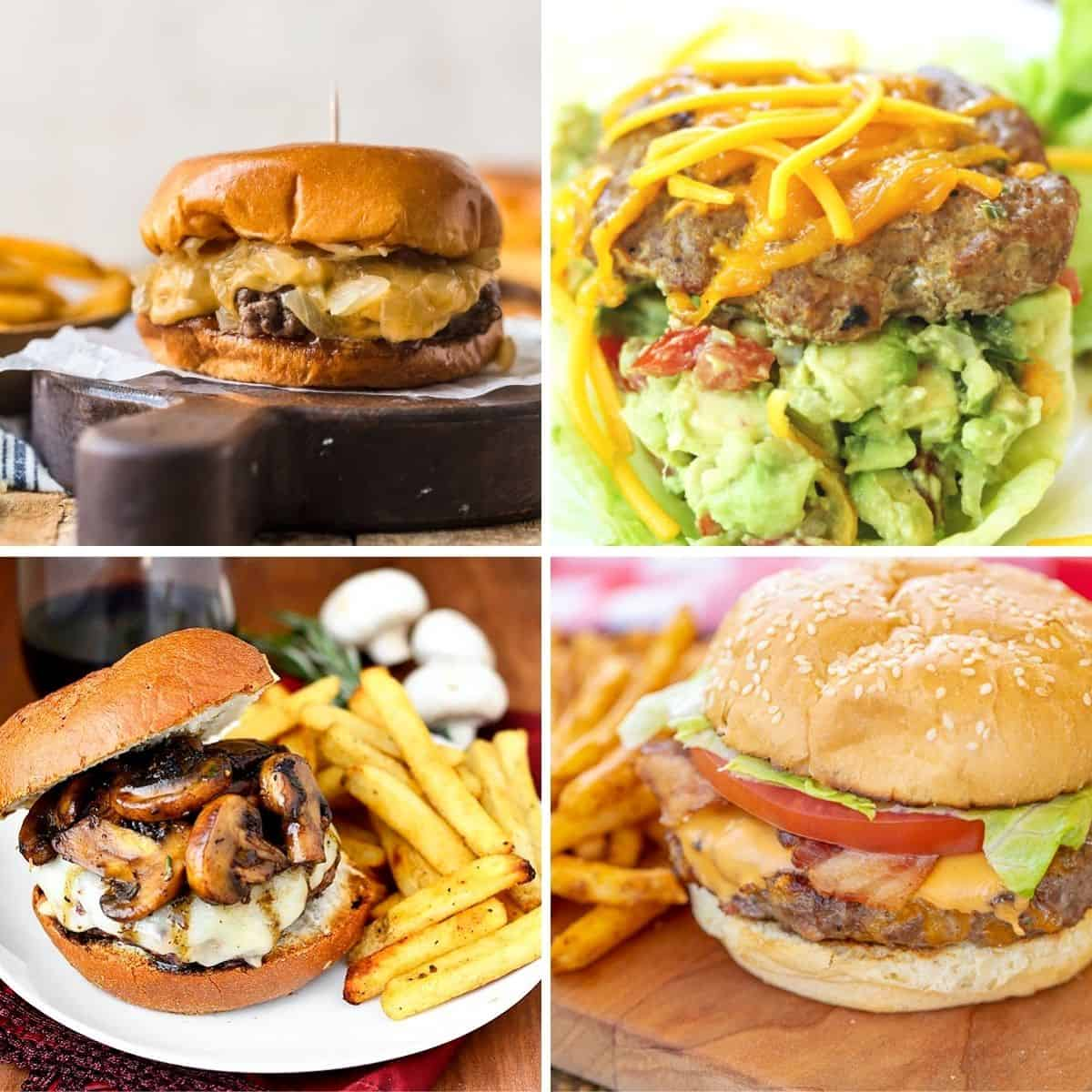 square feature image of 4 easy hamburger recipes to make while camping or RVing