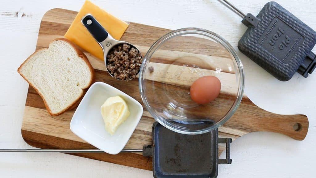 Ingredients needed for making hobo breakfast pies